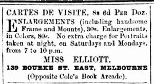 May 25 1880 Avoca Advertiser elliott