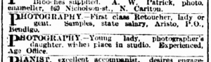March 11 1905 The Age 2 x lady