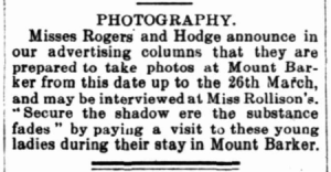 from The Mount Barker Courier & Onkaparinga and Gumeracha Advertiser, 28 Feb 1919